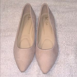 NWOT BellaMarie Ballerina Faux Suede Flat Shoe.